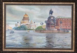Спб Иссакиевская площадь после дождя