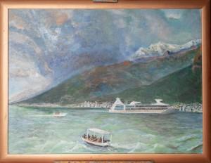 Черногория. Тиватский залив перед грозой холст, масло, 80Х60, 2019