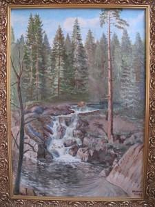 Карелия Водопад ,холст,масло, 60х90 1994г.