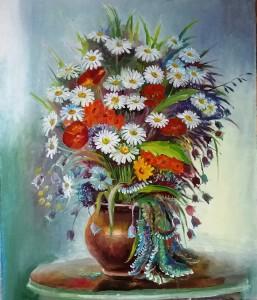 Полевые цветы ,холст,масло, 50х60  04.2020г.