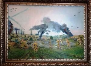 Атака частей 5й гв. танковой армии под Прохоровкой июль 1943г70х50 2020г.