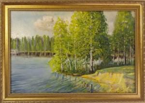 Большое озеро  Осиновая Роща  холст,масло 40х60 2020г.