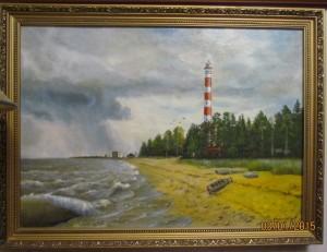 Ленинградская область. Осиновецкий маяк, холст, масло, 70Х50, 2015