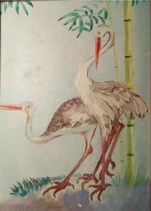 Японская филателия картон,масло