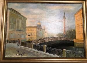 Санкт-Петербург,Певческий мост,холст,масло 1998г.