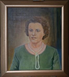 Портрет жены художника, холост,масло. 60х50 2016г.