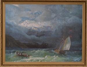 Копия картины Айвазовского  Бурное море ,холст,масло, 2009г.