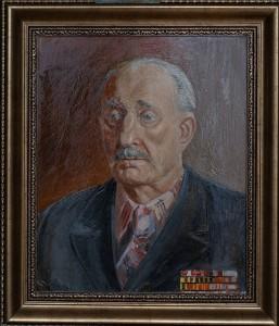 Портрет ветерана ВОВ  Хилик И.А. , холст, масло,  40Х33, 1988