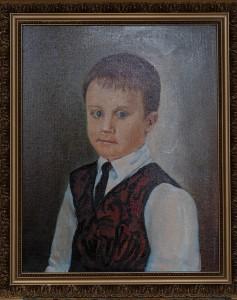 Портрет Вовы, 7 лет (правнук художника) , холст, масло,  50Х40, 2019г.