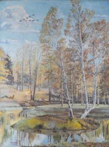 Гатчинский парк .холст,масло, 80х60 1996г.