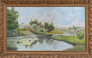 Копия Деревнский пейзаж,холст ,масло.