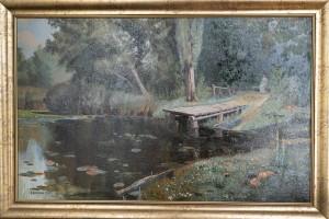 Копия картины Поленова Заросший пруд,холст,масло,   2007г.