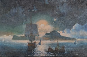 Копия Айвазовского Лунная ночь на Капри,холст ,масло,  2006г.