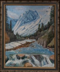 Горная река ,холст,масло,                        1999г.