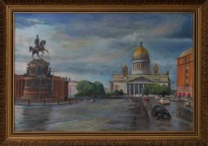 Исаакиевский собор холст,масло. 2019г.