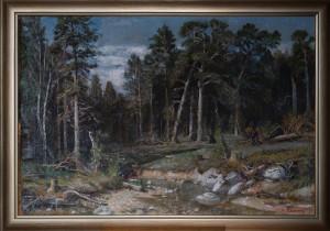 Копия картины Шишкина Сосновый бор,холст,масло. 97х75    1955г.