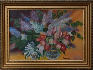 Цветы, холст, масло,  50Х40, 2015г.