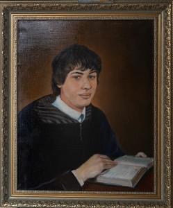 Портрет.Юноша с открытой книгой, холст,масло размер 50х40,2012г.