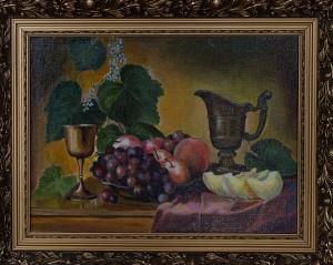 Натюрморт с виноградом,холст,масло, 40х30 2005г.