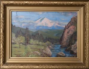 Вид на Эльбрус, холст .масло, 57х41 1990г.